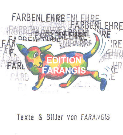color theory, cover, drawing and ink stamp, edition farangis